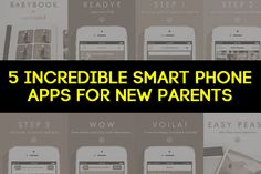 5 Incredible Smart Phone Apps for New Parents | Pregnancy Corner. #BabyBook by #CanDoBaby!