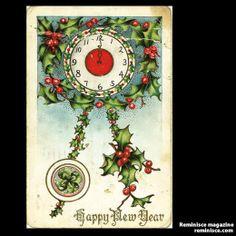 New Year's postcard, 1913