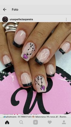 Love Nails, Pretty Nails, Fun Nails, Nail Manicure, Pedicure, Nancy Nails, French Tip Nails, Classy Nails, Make Me Up