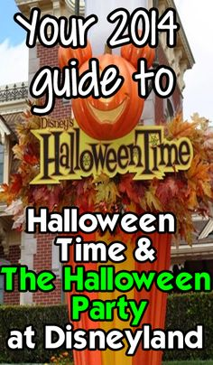 All about Halloween Time and the Halloween Party at Disneyland.