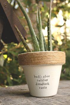 "Bob Marley's ""Buff-Aloe Soldier"" by PlantPuns on Etsy"