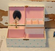 Pink Mele Co Ashley Musical Ballerina Jewelry Box with Oval