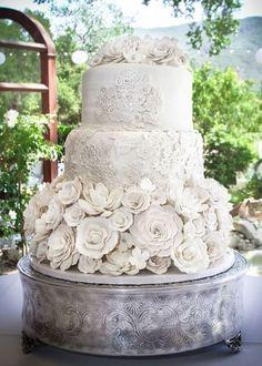 Wedding cake idea; Featured Cake: Sweet Art Bake Shop