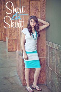 T-Shirt Skirt Tutorial