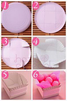 Como Hacer Cajas con Platos Descartables