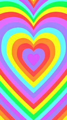 Hippie Wallpaper, Trippy Wallpaper, Rainbow Wallpaper, Heart Wallpaper, Cute Wallpaper Backgrounds, Aesthetic Iphone Wallpaper, Cartoon Wallpaper, Cool Wallpaper, Cute Wallpapers
