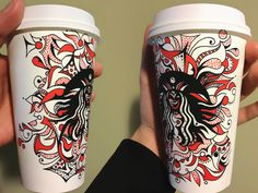 Illustrative Coffee Cup Art