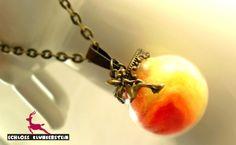 ELFEN FEUER GlasKugel Kette - make a wish Globus von ♥ Schloss Klunkerstein ♥ Geschenke, Uhren, handgefertigter Unikat Schmuck, romantische Medaillons & Kettenuhren, Naturschmuck, nostalgische, antike & vintage Einzelstücke und seltene Schätze auf DaWanda.com