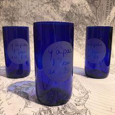 Verre recyclage de verre y'a pas l'feu au lac pour k-line.ch boutique k-line à morges Switzerland Red Bull, Decoration, Pint Glass, Unique Gifts, Creations, Canning, Tableware, Furniture, Ideas