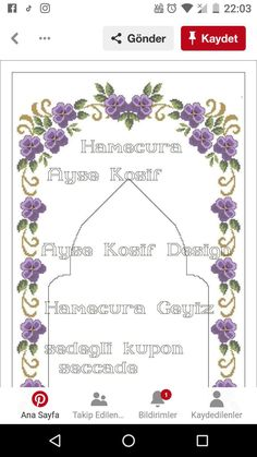 Cross Stitch Designs, Cross Stitch Patterns, Prayer Rug, Smocking, Diy And Crafts, Table Runners, Bargello, Embroidery, Tablecloths