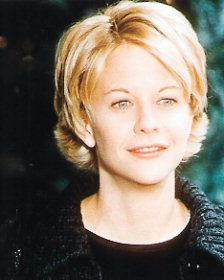 "Cute haircut-I've always loved the ""old Meg Ryan"" cute factor. Don't care much for her new, surgerized look."