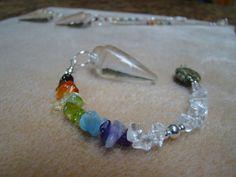 Chakra pendulum Quartz crystal 7 chakras by ChakraLoversJewelry, $22.00