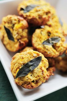 Pumpkin & Sage Savory Muffins with whole wheat flour, oats, olive oil and lots of pumpkin this healthy vegan snack can be a great breakfast