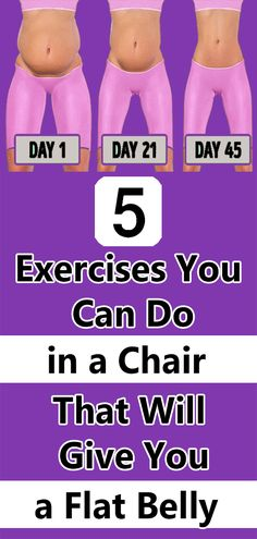 5 Exercises You Can Do in a Chair That Will Give You a Flat Belly - Fitness exercises Health And Fitness Tips, Health And Beauty, Health And Wellness, Flat Belly, Lose Belly, Belly Belly, Easy Workouts, At Home Workouts, Fitness Models