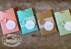 Stampin' Up!: Petite Petal punch, Eigen naamstempel; Verpakkingen voor naamstempels...By Atelier Negen
