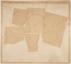 Composition - 1937 - Jean (Hans) Arp, French (born Germany), 1886 - 1966 - Collage of torn and adhered colored paper, with graphite, on paper - 22.9 x 32.4 cm