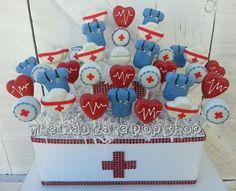 Nurse Cake Pops 12 Pops Medical Cake Pops by TheMaDCakePopShop