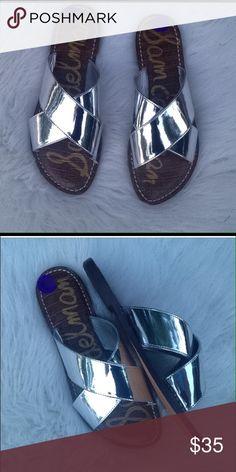 New Sam Edelman metallic silver slides sandals 8 New-no box. Style is Kora. Size 8 Sam Edelman Shoes Sandals