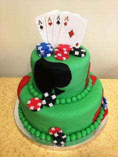"""Get this cake! Have a poker-themed party...several tables set up at once.  Everyone gets their own frosted beer mug.  Have several beers on """"tap"""".  Darker room--- have separate area w/ cocktails for the women.  Maybe beer pong or flippy cup???"""