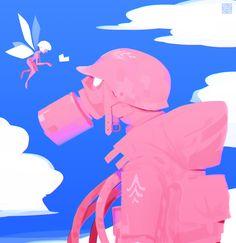 ArtStation - Pink soldier, Alexis Rives