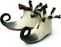 felted boots...very, very cool....
