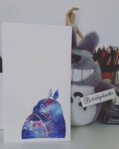Watercolor galaxy Totoro fanart
