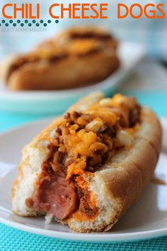 Chili Cheese Dogs are a staple way to dress a hot dog – and for good reason!