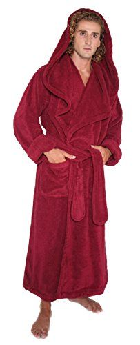 Arus Men s Monk Robe Style Full Length Long Hooded Turkish Terry Cloth  Bathrobe  - fbb85cfaa