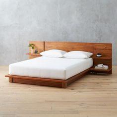 View larger image of andes acacia full bed (mattress sold separately). Platform Bed Designs, Bed Platform, Modern Platform Bed, Floating Platform Bed, Platform Bedroom, Bedroom Bed Design, Bedroom Sets, Bedding Sets, Wood Bed Design