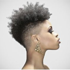 Mohawk hairstyles are one of the most diverse styles&can easily be pulled off on any face shape or skin tone.Check out our list of Mohawk styles for black women Cute Natural Hairstyles, Tapered Natural Hair, Teen Hairstyles, Black Women Hairstyles, Natural Skin, Beautiful Hairstyles, Medium Hairstyles, Summer Hairstyles, Curly Mohawk Hairstyles