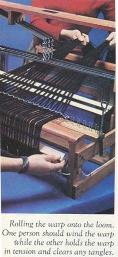 Warping a loom