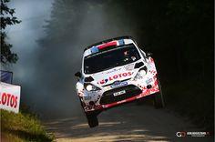 Robert Kubica - big jum in Rally Poland 2014
