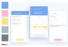 Time Off App Concept designed by Jesse W. Connect with them on Dribbble; Mobile App Design, Mobile App Icon, App Design Inspiration, App Icon Design, Web Design, App Wireframe, App Login, App Background, Calendar App