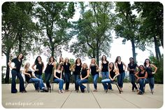 Large Group Family | large-group-of-girls-pose-for-photographer cute idea since in the immediate family there's 10 girls just for the immediate family.