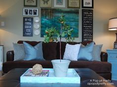 Eclectic 'modern cottage' style living area - eclectic - living room - other metro