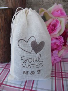 Favor Bags  SET OF 10 Soul Mates by dazzlingexpressions on Etsy, $12.00
