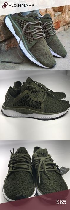 Women s Puma Tsugi NetFit Sneaker Brand new without box, with original tags  Olive Green  7e13d7d099