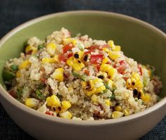 Healthy Grilled Corn & Quinoa Salad Recipe | from Lourdes Castro's Latin Grilling cookbook | House & Home