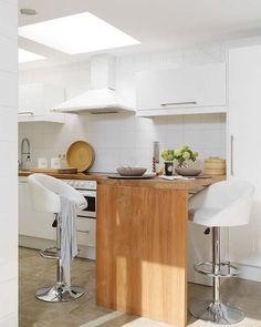 Reforma Cocina pequeña - Isla función barra
