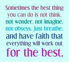 Positieve gedachten!
