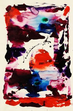 Sam Francis, Untitled, 1990 | colorful abstract painting art