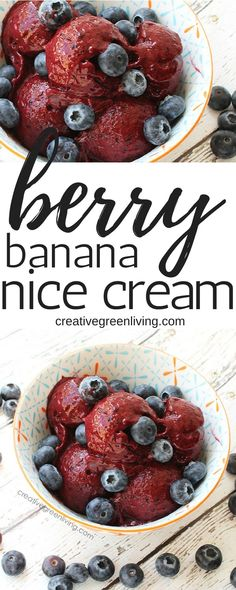 Forget ice cream, make nice cream! This healthy, vegan nice cream recipe is made with banana, blueberry and blackberry. Be sure to check out the video showing you how to make it. It's so easy! Paleo Ice Cream, Eating Ice Cream, Ice Cream Recipes, Vegan Desserts, Dessert Recipes, Paleo Dessert, Vegan Sweets, Ice Cream Smoothie, Banana Nice Cream