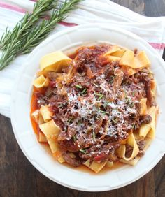Slow Cooked Beef Ragu the best recipe for this I have tried! Not too much red wine flavor and super delicious! 6/5