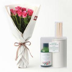 【ネット限定】インテリアフレグランスとお花のセット