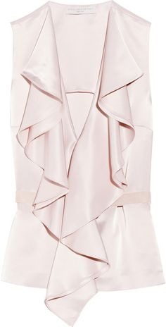 75ec740400e8df Stella McCartney - Pink Florabela Ruffled Satin Top - Lyst