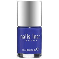 nails inc. Nail Polish in Baker Street #COLORVISION #MajesticCobalt #Sephorasweeps