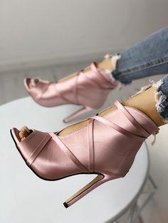 Fashion Peep Toe Bandage Pumps - My Style - Schuhe Pump Shoes, Shoe Boots, Shoes Heels, Ankle Boots, Wedge Boots, Heeled Sandals, Vans Shoes, Mules Shoes, Stiletto Heels