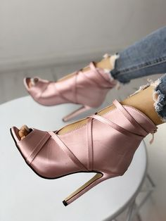 5aeb2b14fda4 Fashion Peep Toe Bandage Pumps♡ Beautiful Shoes