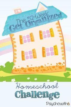 organized homeschool, challenge, daily, calendar