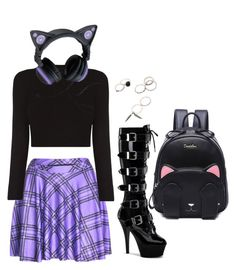 """""""Kitty"""" by zannaze on Polyvore featuring Pleaser"""